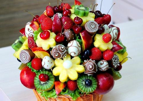 Букеты из конфет или фруктов