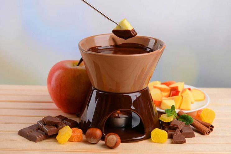 Шоколадное фондю картинка-рецепт